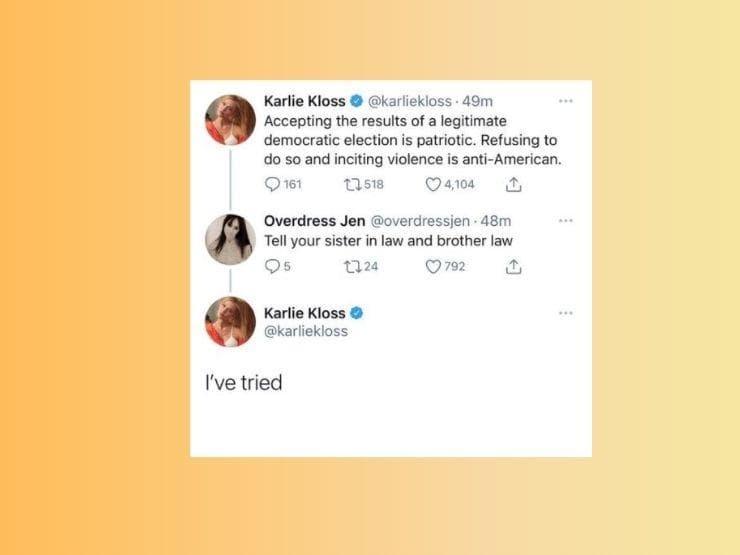 Tweet von Karlie Kloss