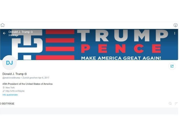 So sieht Donald Trumps OnlyFans-Account derzeit aus-