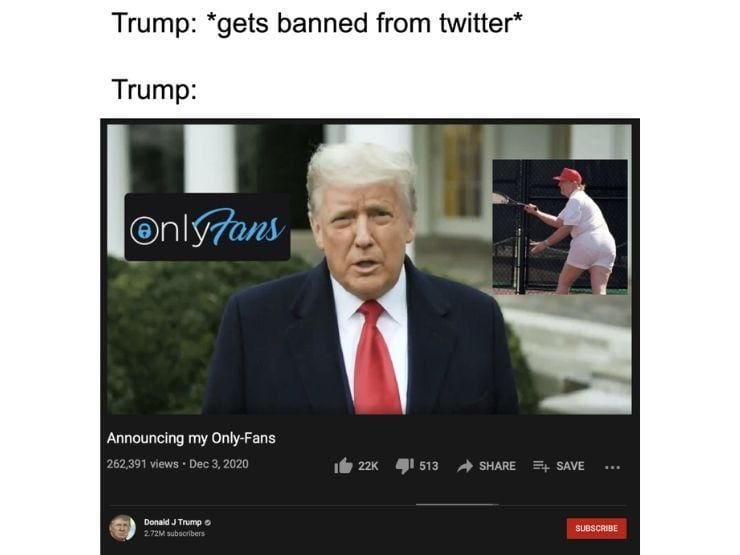 donald Trump onlyfans