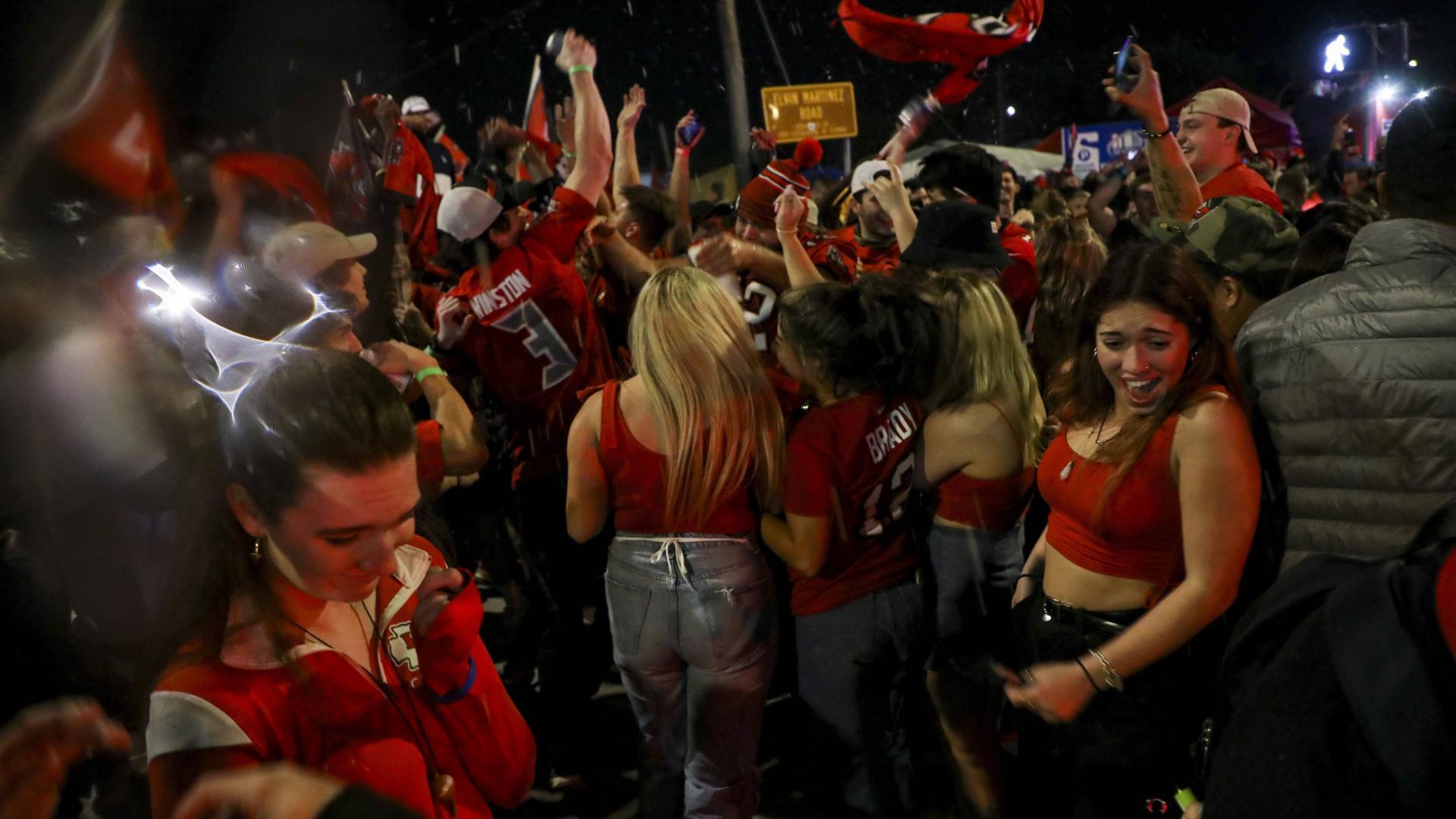 Tampa, Florida wurde gestern gefeiert, was das Zeug hält.