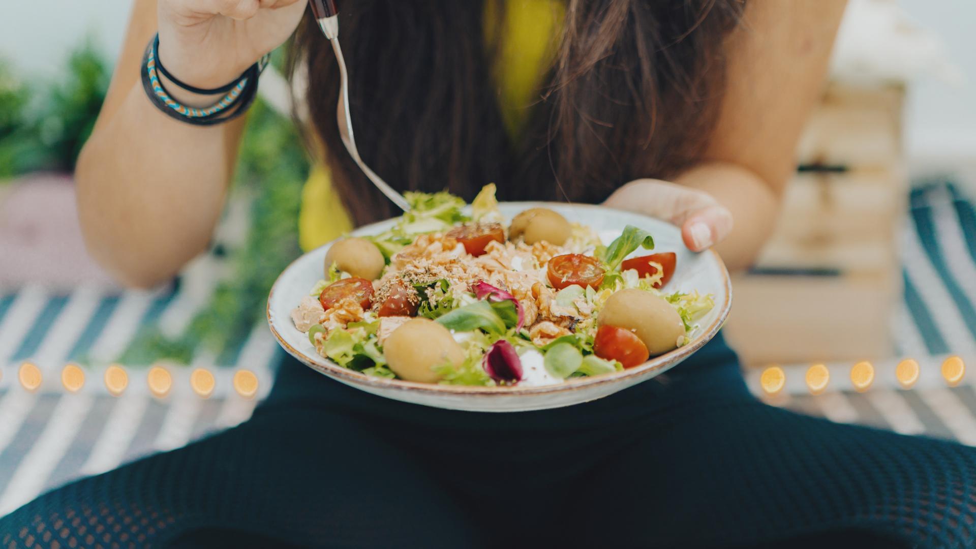 Salat gesund essen Fitness