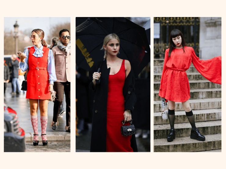 valentinstags outfit, rotes kleid
