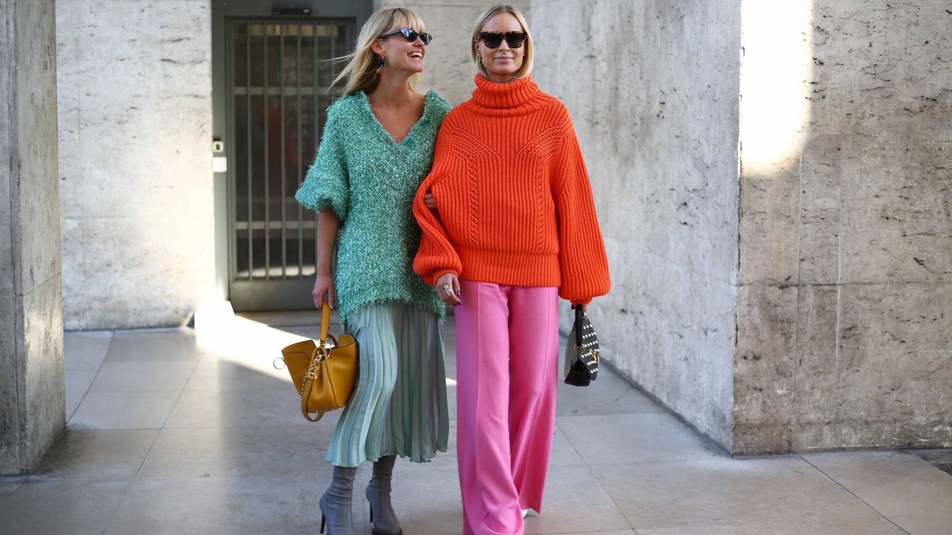 trendfarbe pink, colorblocking