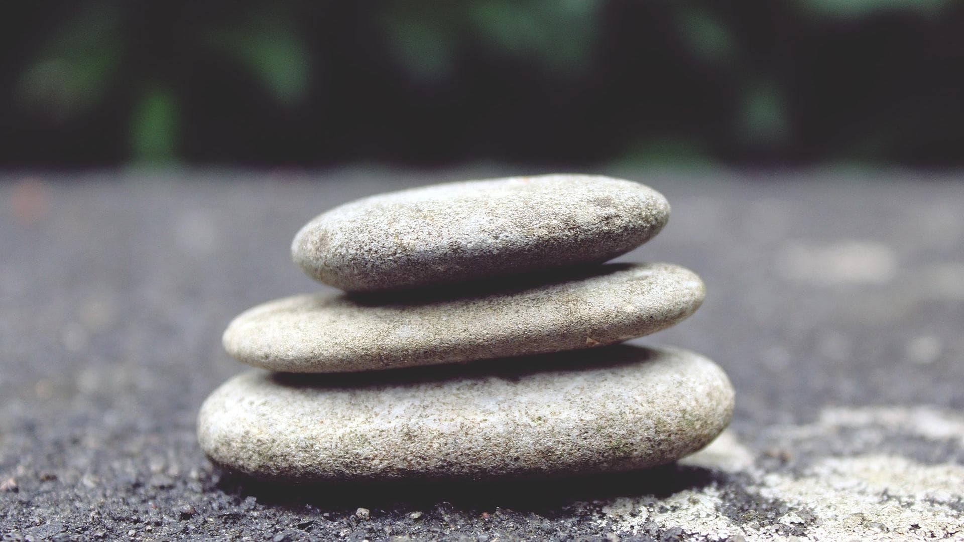 Glatte Steine