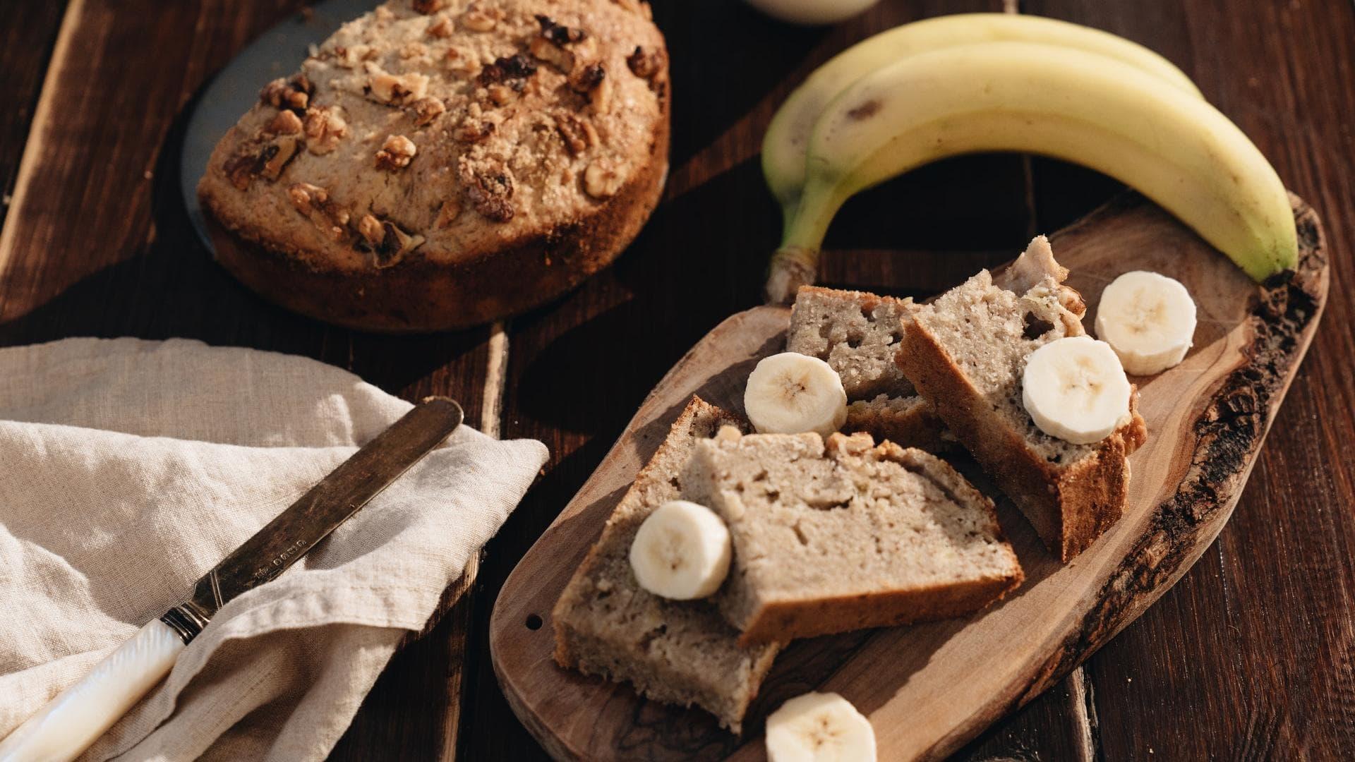 Bananenbrot backen Banane Walnuss