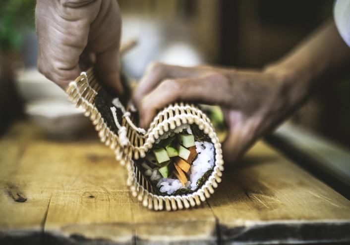 sushi rollen hände brett diy selfmade diy-sets