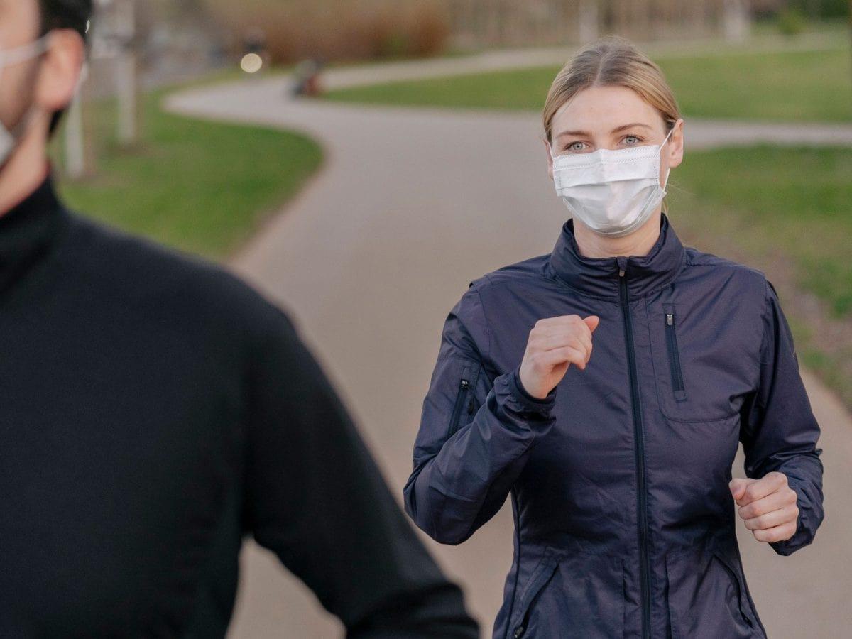 joggen mit maske