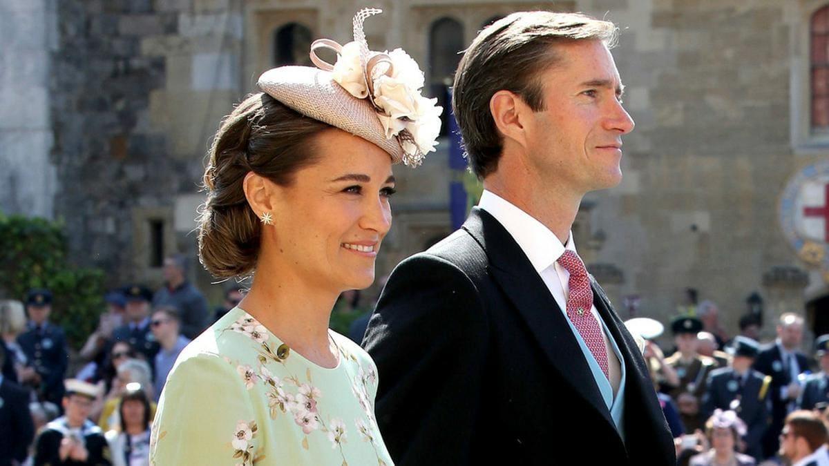Pippa Middleton und ihr Ehemann James Matthews auf der Hochzeit von Prinz Harry und Herzogin Meghan 2018.. © ALPR/AdMedia/ImageCollect