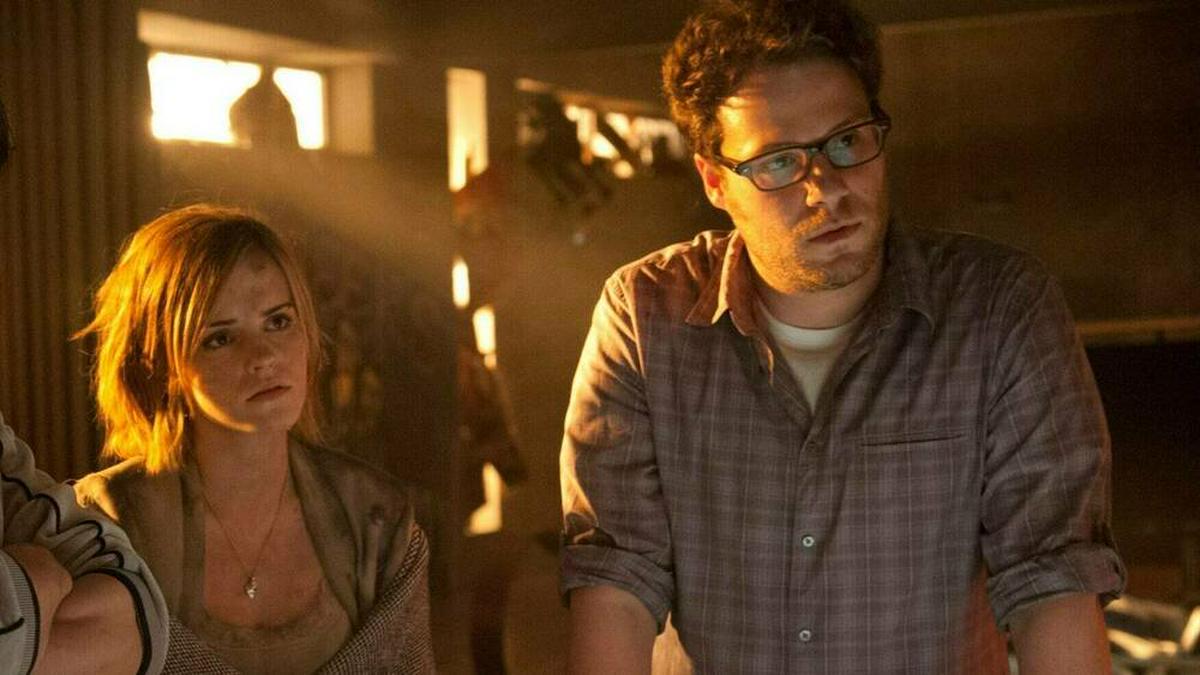 """Emma Watson und Seth Rogen standen gemeinsam für """"Das ist das Ende"""" vor der Kamera.. © imago/ZUMA Press"""