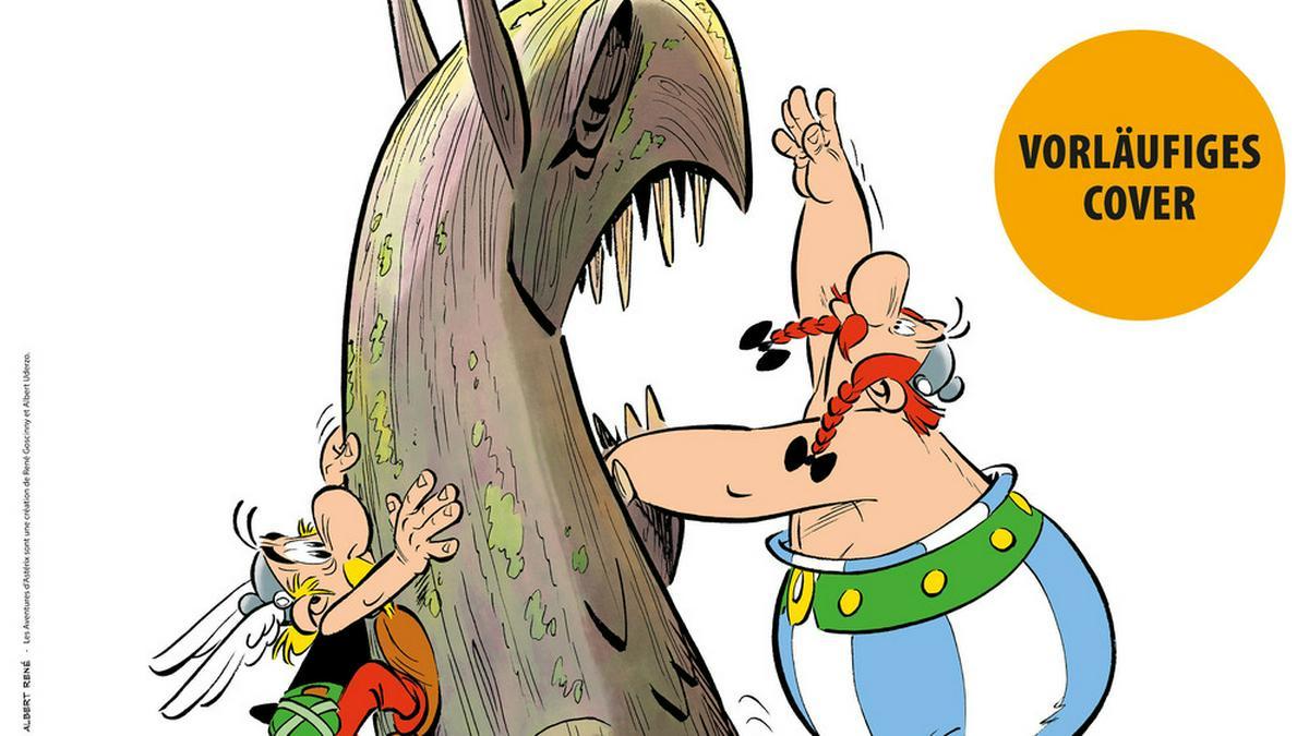 """So sieht das vorläufige Cover von """"Asterix und der Greif"""" aus.. © Egmont Ehapa Media GmbH / LES EDITIONS ALBERT RENE"""