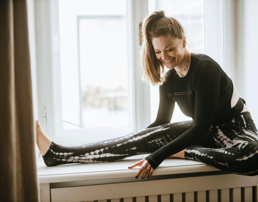 Frau Yogakleidung