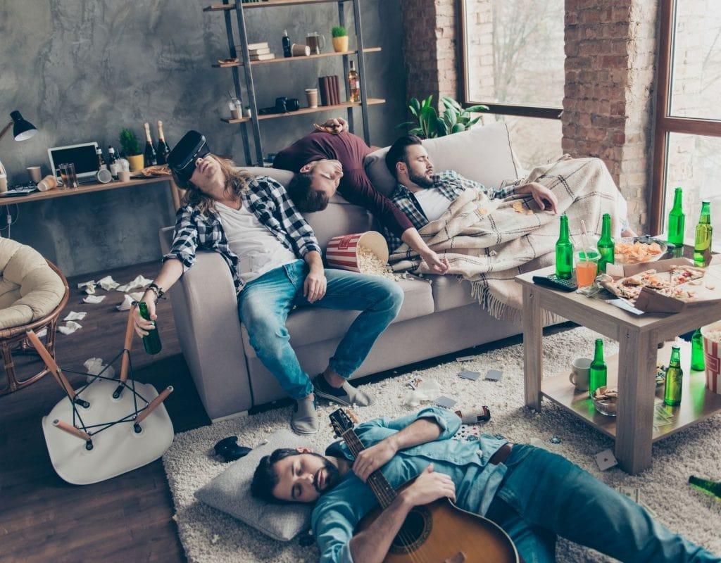 alkohol kater hangover party freunde