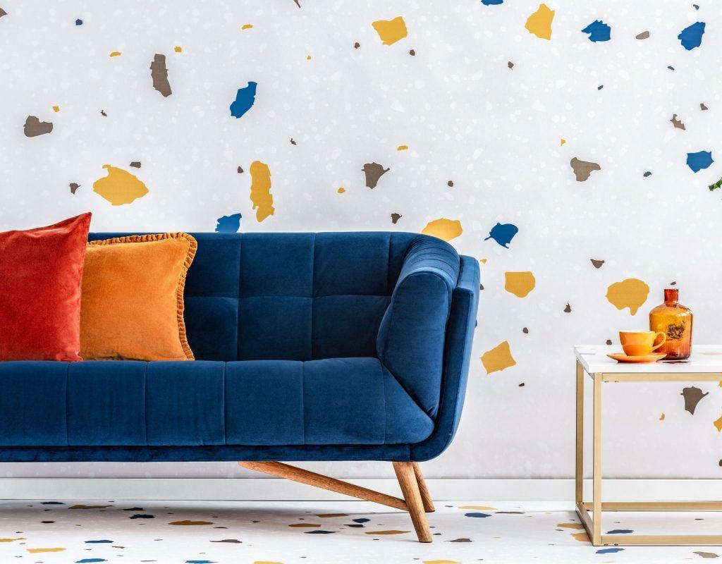 terrazzo, deko-trends couch bunt minimalistisch