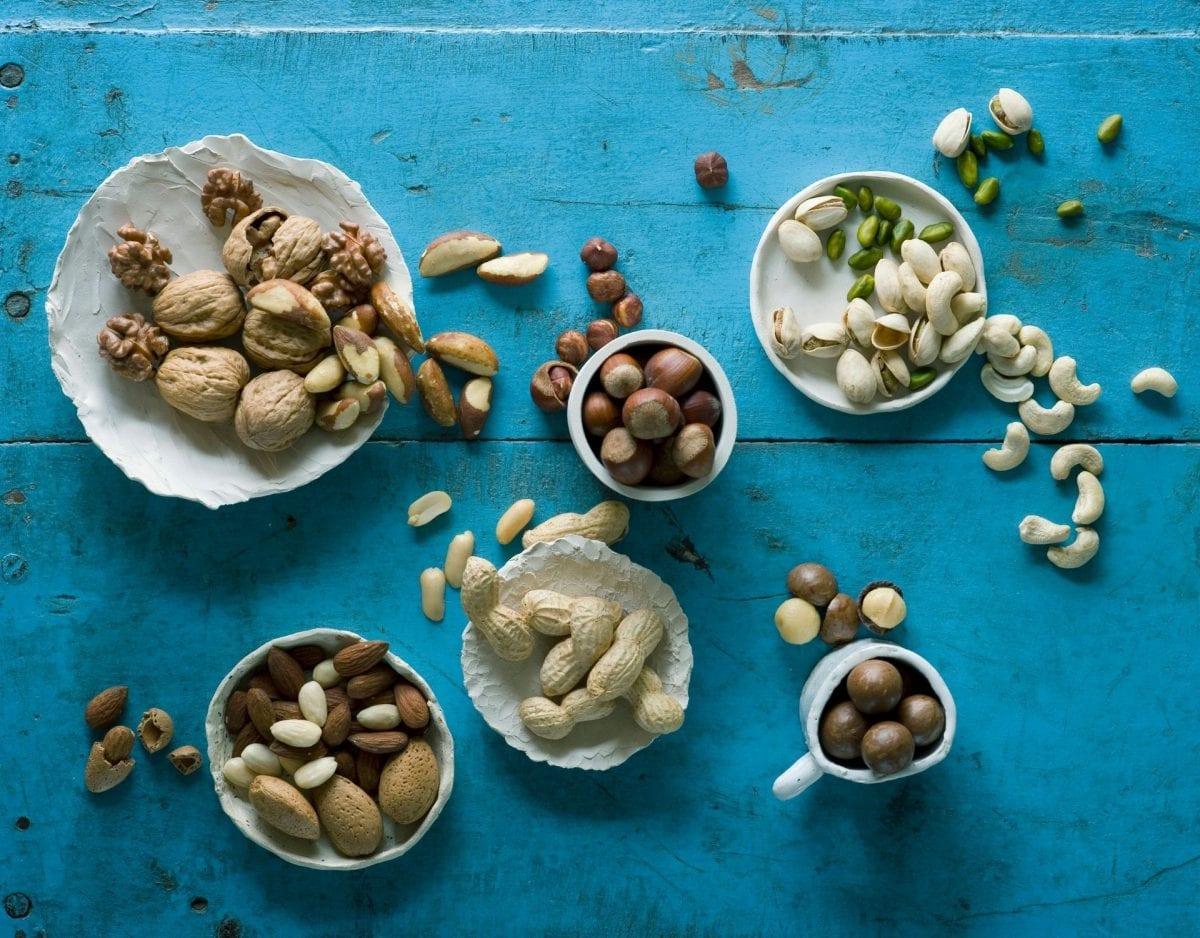 gesunde nüsse nuss macadamia erdnuss haselnuss mandel