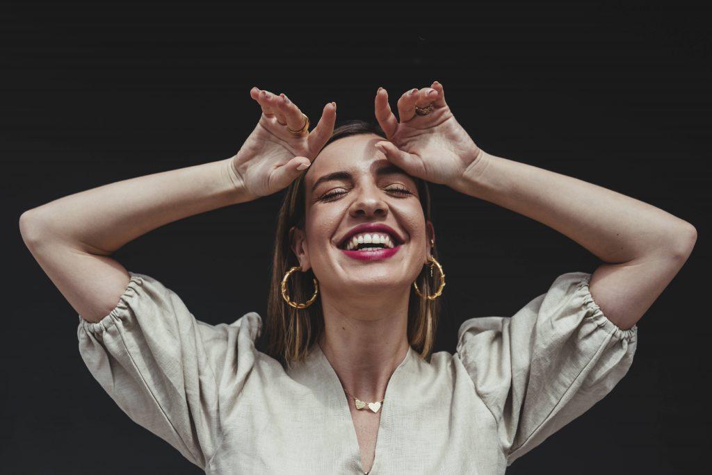 Frau glücklich, glückliches Leben