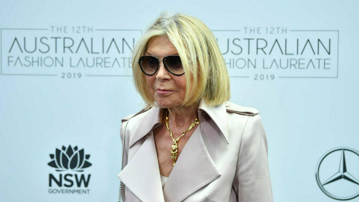 Carla Zampatti im Jahr 2019 in Sydney. © imago images/AAP