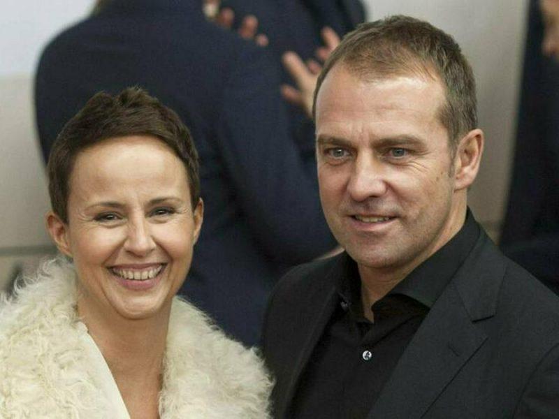 Hansi Flick mit seiner Ehefrau Silke. © imago images/Sven Simon
