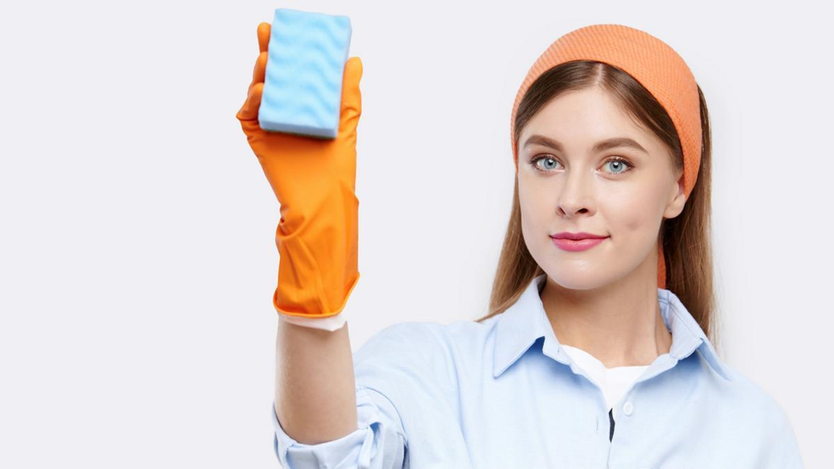 In einem Schwamm sammeln sich schnell Bakterien.. © Aleksandr Khmeliov/Shutterstock.com