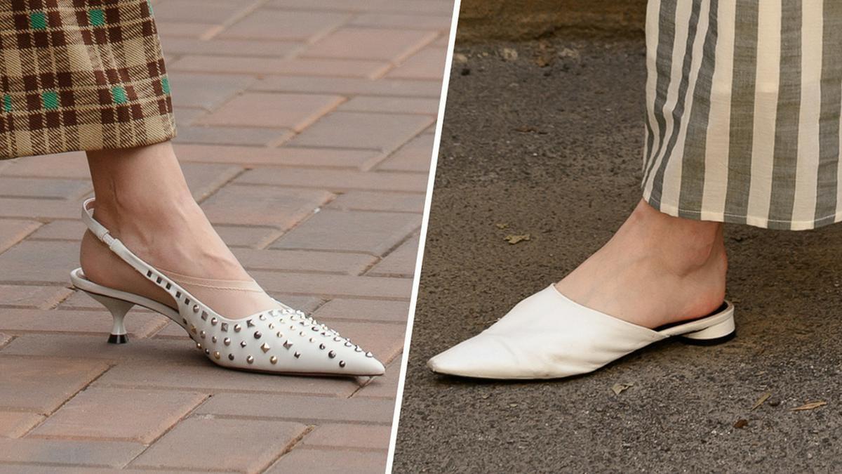 Kitten Heels und Slipper sind im Jahr 2021 angesagt.. © [M] Street style photo/Shutterstock.com