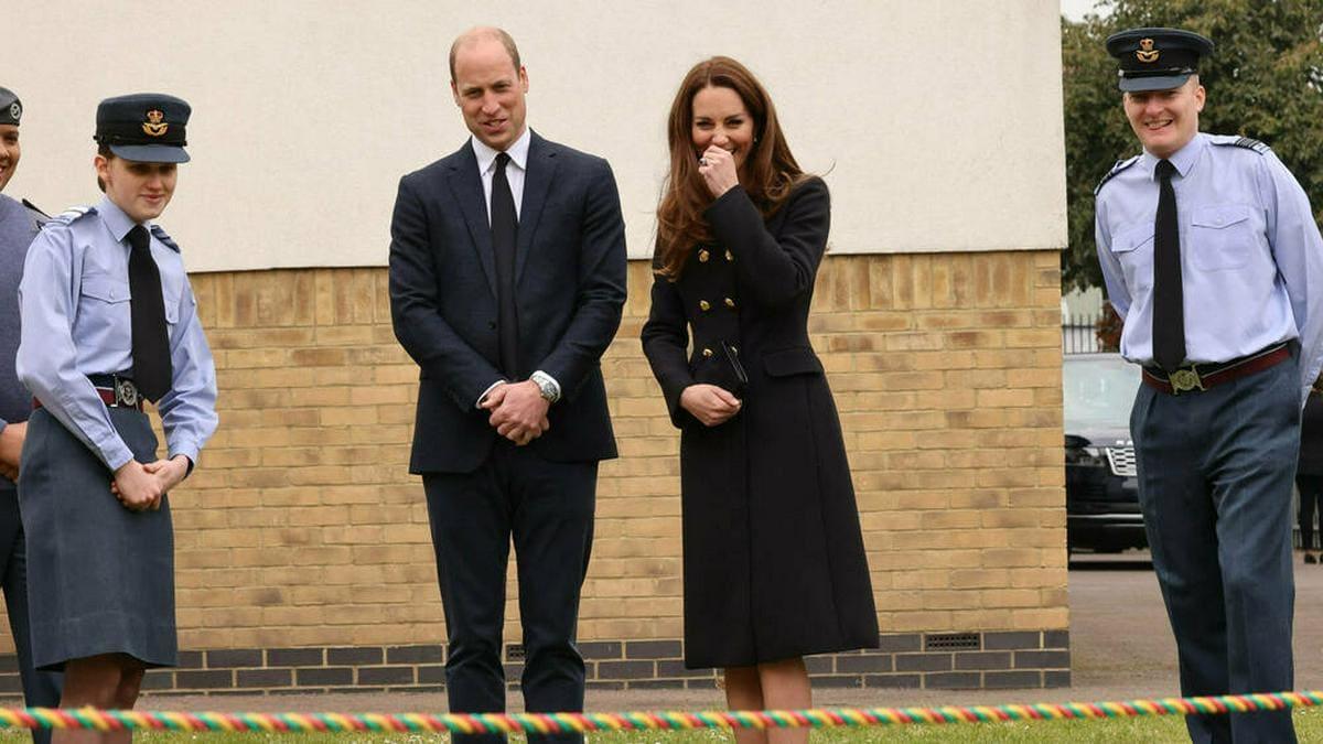Prinz William und Herzogin Kate bei ihrem Auftritt bei den Air Cadets der Royal Air Force.. © imago images/i Images