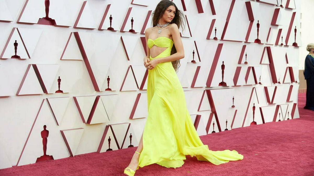Zendaya in ihrem besonderen Oscar-Outfit.. © imago images/Cinema Publishers Collection