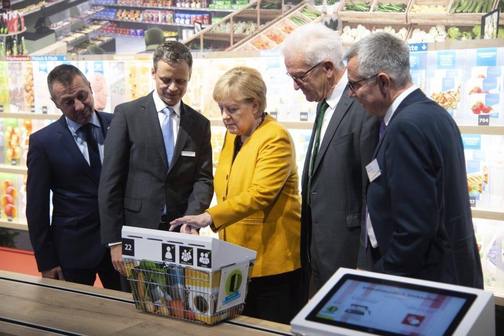 Angela Merkel supermarkt quengelware