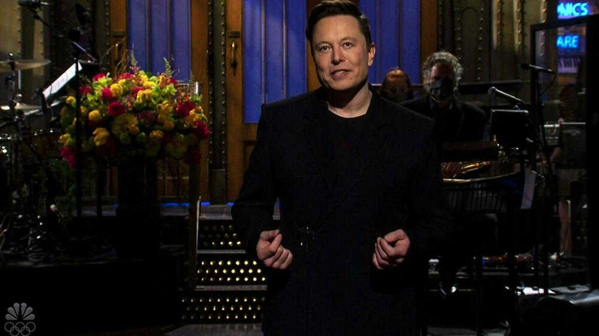 """Elon Musk bei seinem """"SNL""""-Auftritt. © imago images/ZUMA Wire"""
