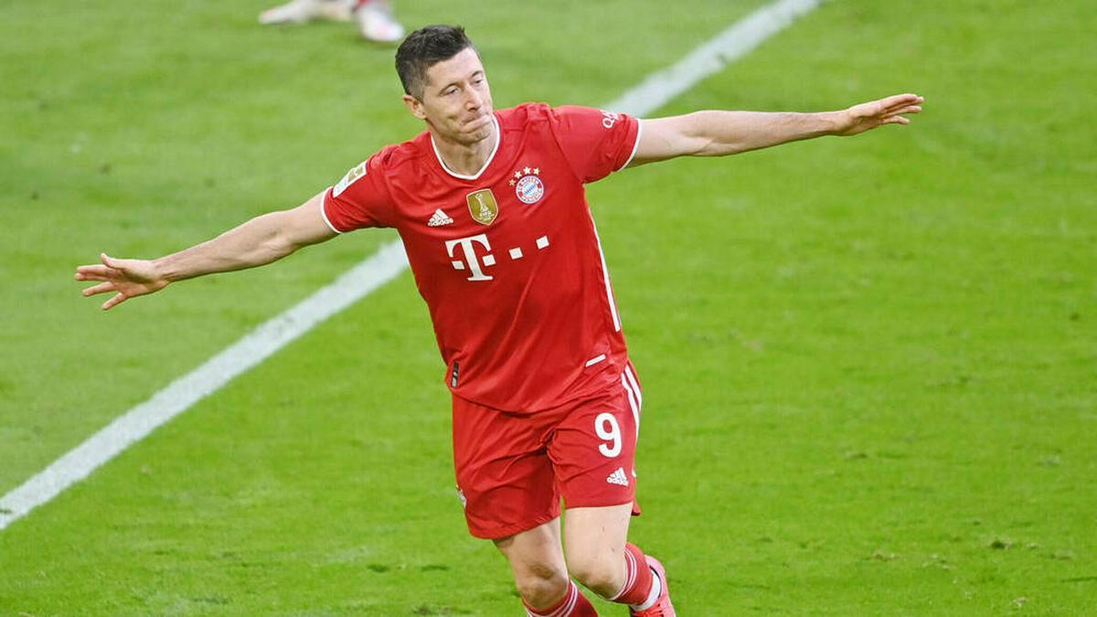 Im letzten Spiel der Saison kommende Woche kann Robert Lewandowski den Müller-Rekord sogar noch brechen.. © imago images/Sven Simon