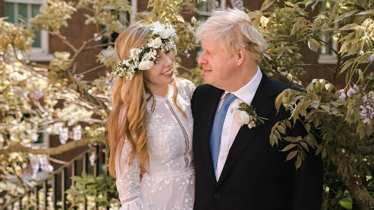 Ein von der Downing Street zur Hochzeit von Boris Johnson und seiner Ehefrau Carrie veröffentlichtes Bild.. © Rebecca Fulton / Downing Street via Getty Images