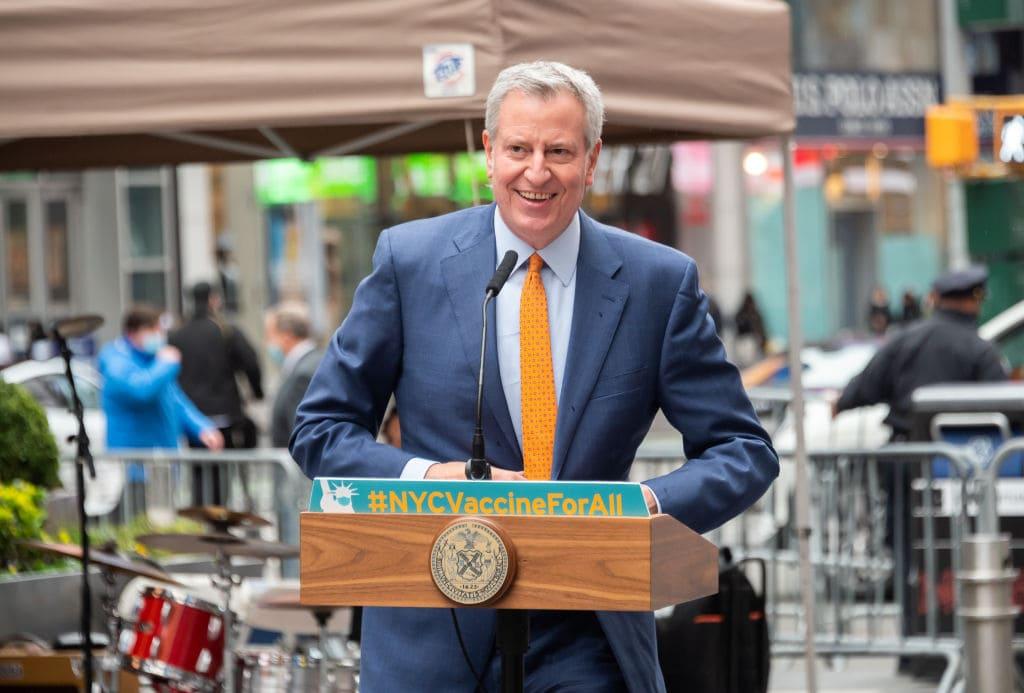 Bill de Blasio, NYC Touristen impfen