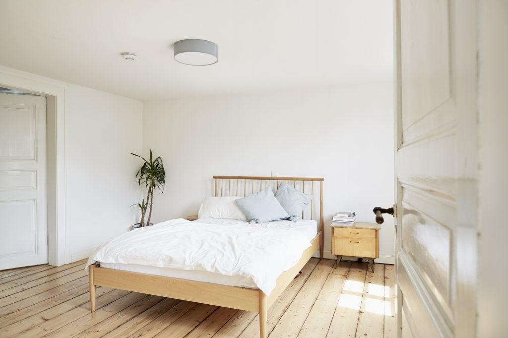 weiß Wandfarbe fürs Schlafzimmer
