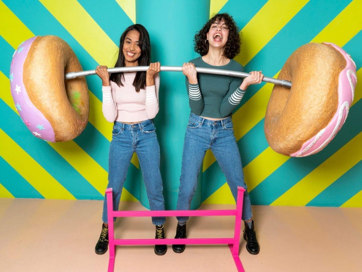 Dickmacher Gewichtheben Donuts