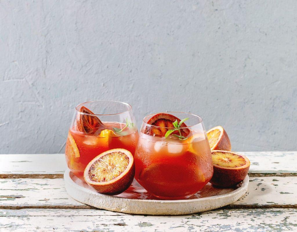 Sommer Cocktails Blood Orange Mimosa