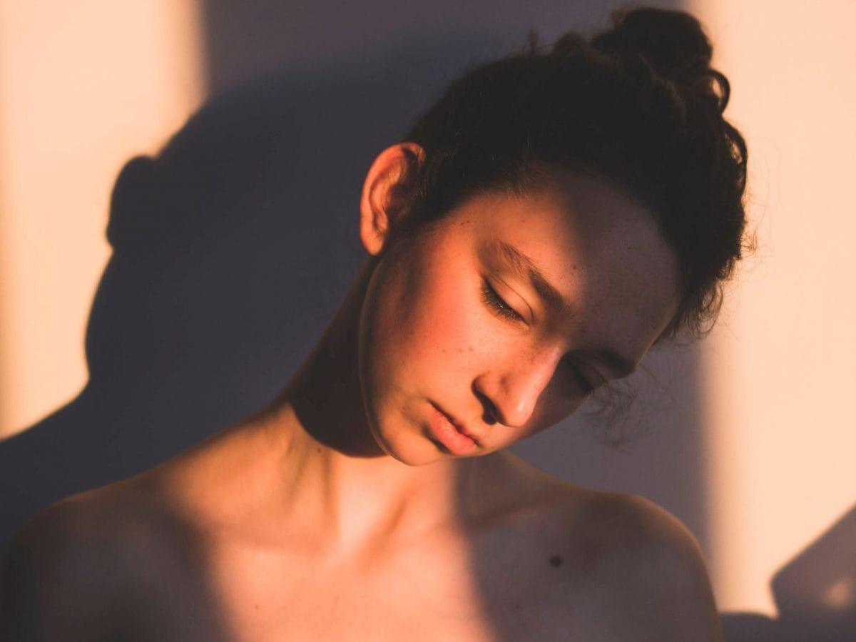 Frau müde