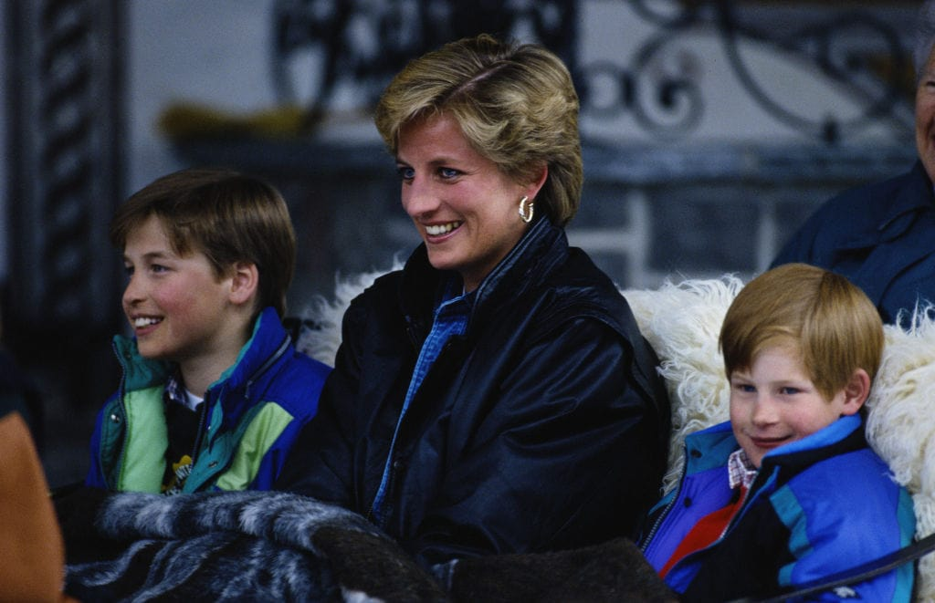 Prinzessin Diana mit Harry und William