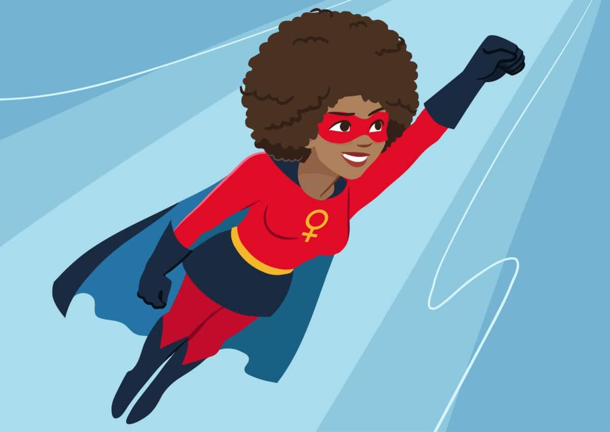 superheldin schwarz