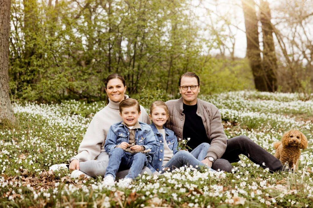 Prinzessin Victoria mit Ehemann und Kindern