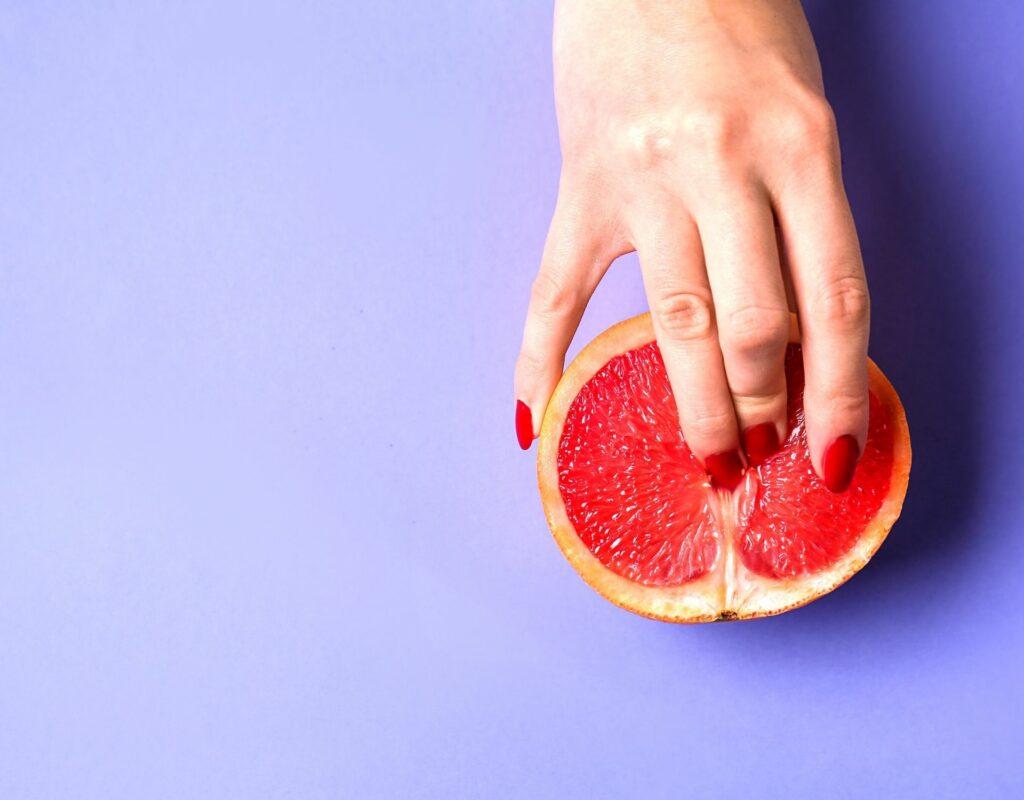 Masturbation mit Frucht