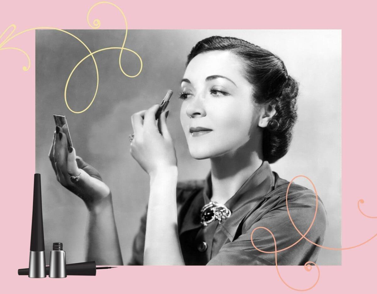 Vintage Frau mit Make Up
