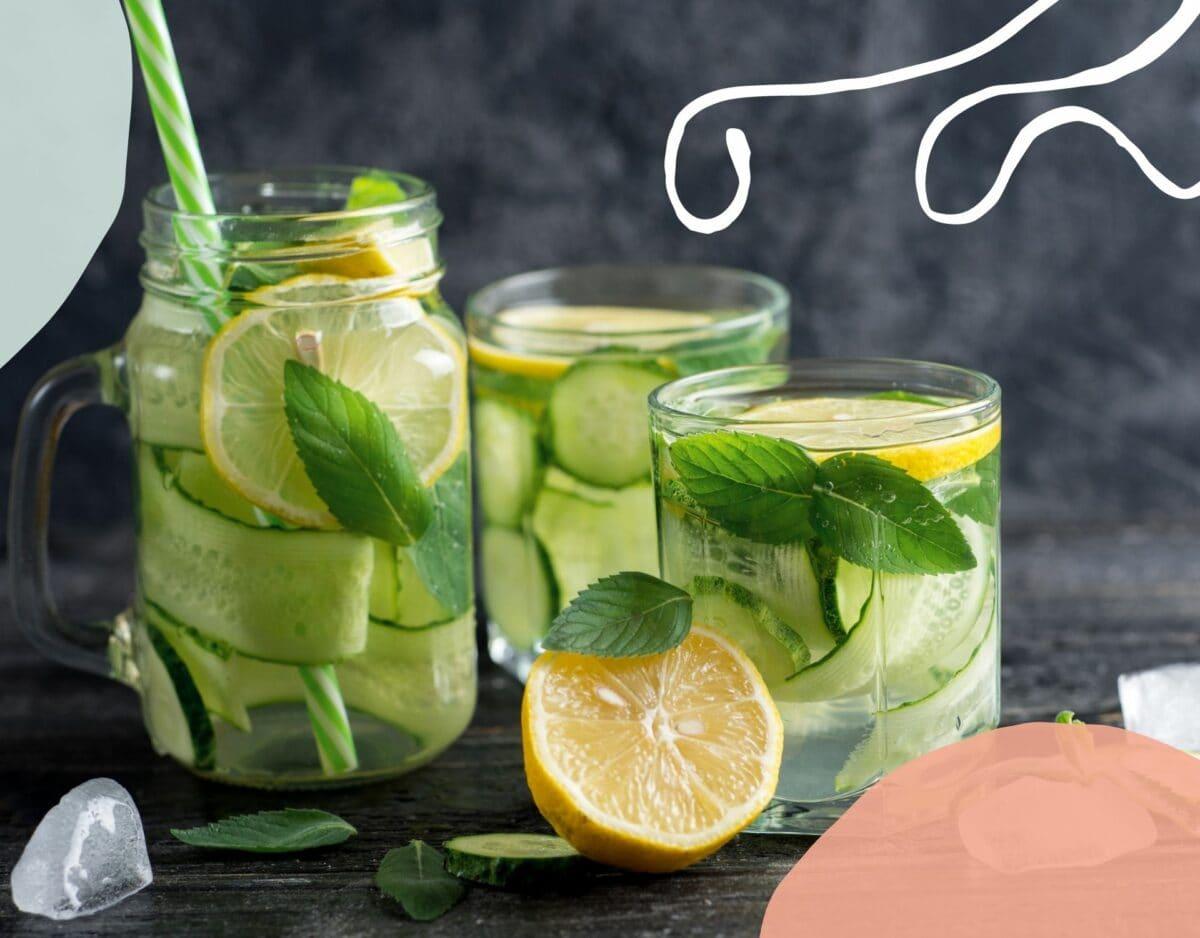 Alkohol Detox Limonade Gurke Zitrone Minze