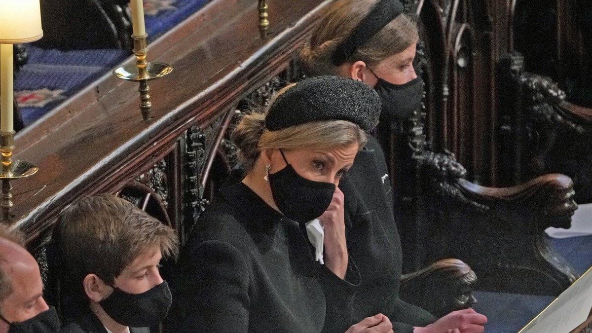 Sophie von Wessex auf der Beerdigung von Prinz Philip. © imago/i Images