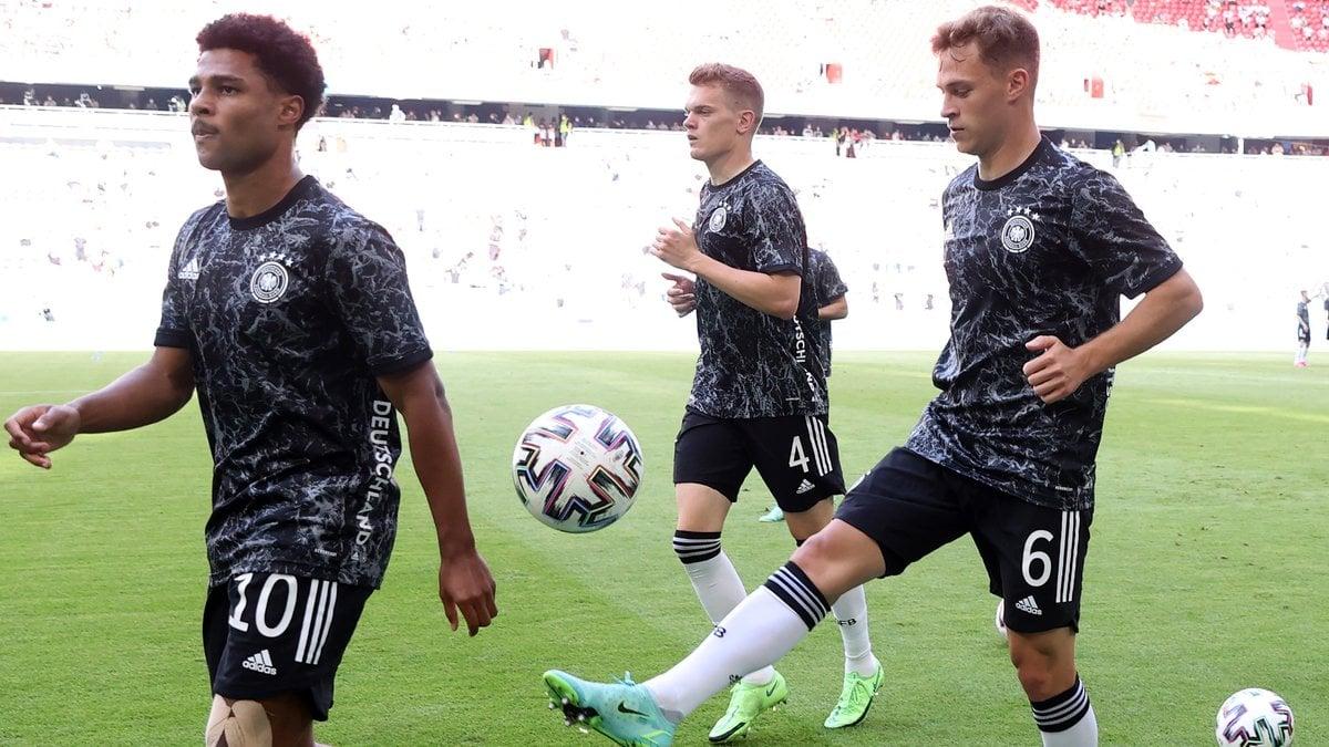 Nicht nur mit dem Ball begeistern die DFB-Stars.. © Alex Grimm - UEFA/UEFA via Getty Images