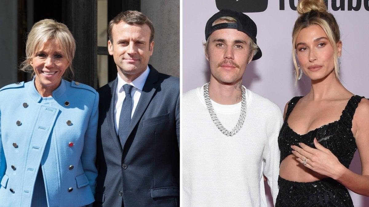 Das französische Präsidentenpaar Emmanuel und Brigitte Macron (l.) hat sich mit Musiker Justin Bieber und Ehefrau Hailey getroffen.. © [M] Frederic Legrand - COMEO/DFree/Shutterstock.com