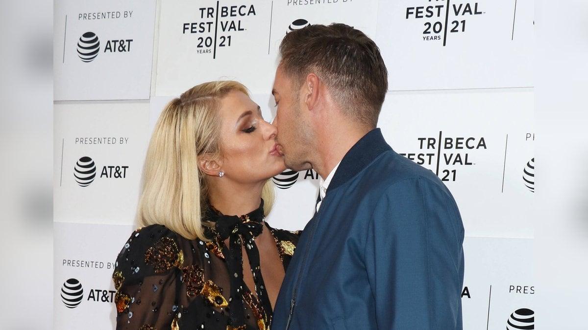Paris Hilton und ihr Verlobter Carter Reum beim Tribeca Film Festival in New York