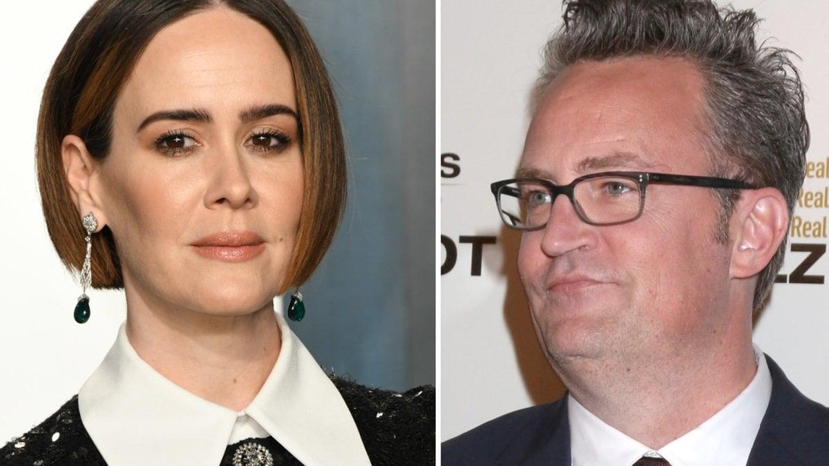 Sarah Paulson hat später doch noch ihren Kuss von Matthew Perry bekommen.. © Birdie Thompson/AdMedia/ImageCollect / carrie-nelson/ImageCollect