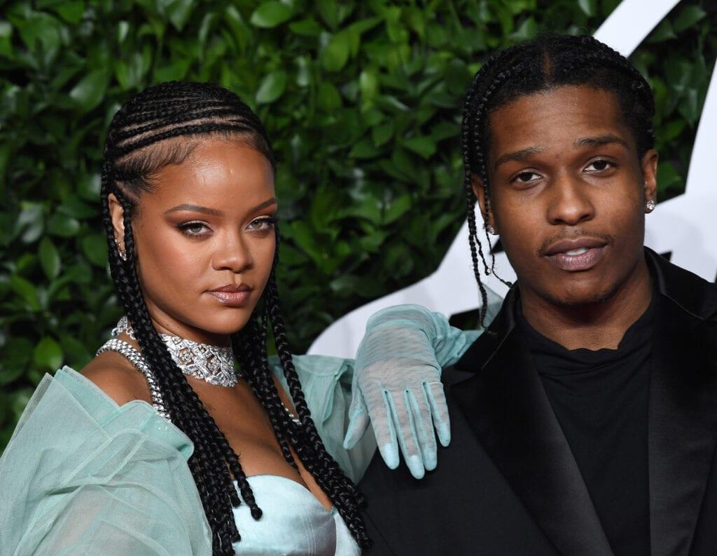 Rihanna und ASAP Rocky auf dem roten Teppich