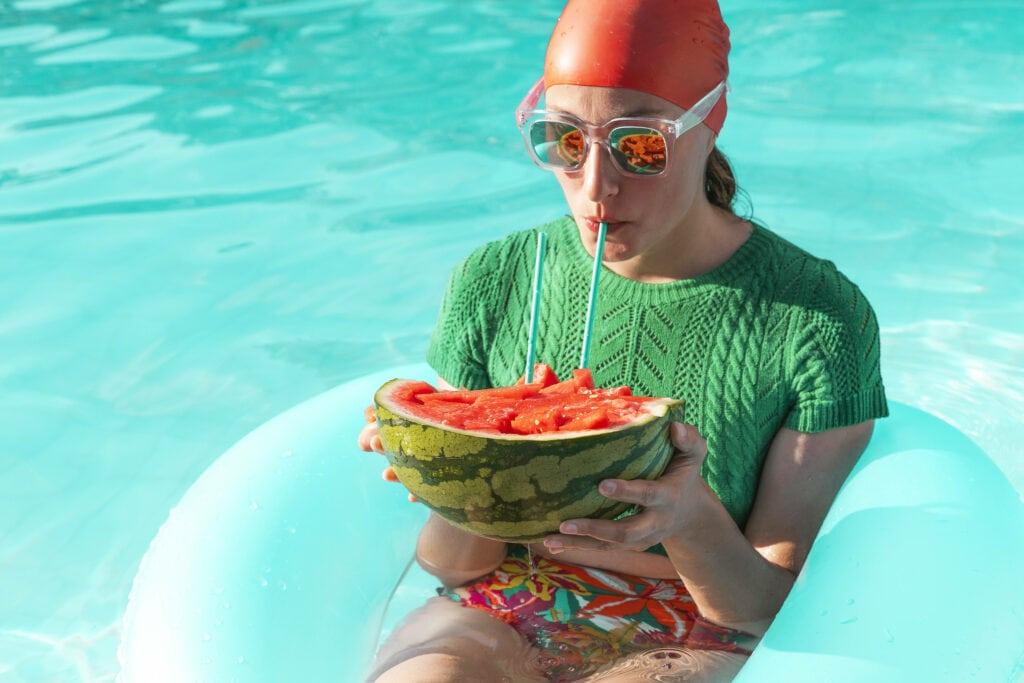 Wassermelone Frau