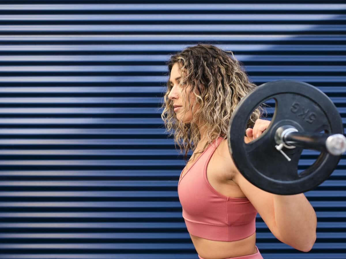 Sport Frau Gewichte