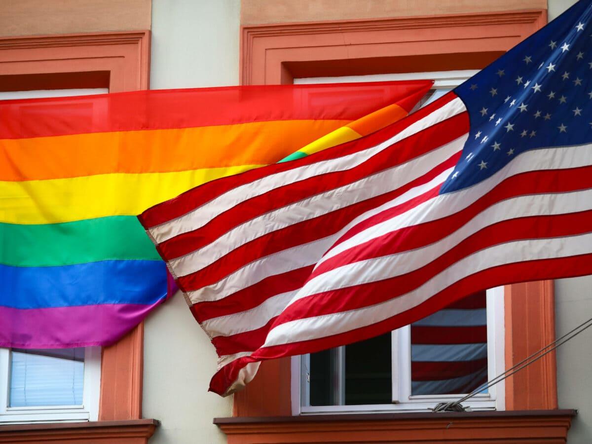 Pride Flag vs. American Flag