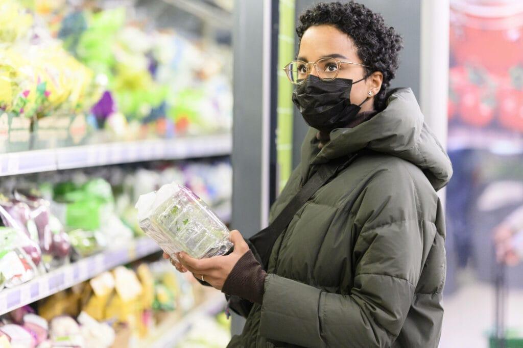 Einkaufen Maske